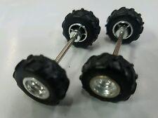 MUD parts tires wheels axels LOT for custom builds 4X4 1/64 truck ERTL 1 SET DCP