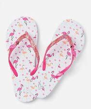 Justice Flamingo Charm Girls Flip Flops Size S 2/3 NEW
