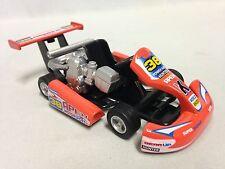 "Turbo Go Kart, Engine, Racing Car, 5.25"" Diecast, Pull Back, Kids Fun,Toy Orange"