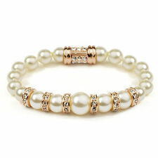 Pearl Rose Gold Plated Beaded Fashion Bracelets