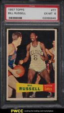 1957 Topps Basketball Bill Russell SP ROOKIE RC #77 PSA 6 EXMT
