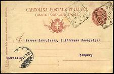 ITALIA 1901, 10c cancelleria carta per la Germania #c38466