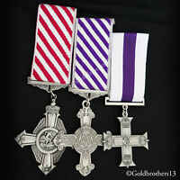 Air Force Cross AFC + Distinguished Flying Cross DFC + Military Cross MC Repro