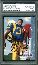 Rams Jerome Bettis Authentic Signed Card 1993 Upper Deck RC #20 PSA Slabbed A