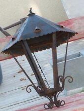 Superbe grande suspension lanterne plafonnier lustre fer 6faces Déco Charme 60cm