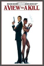 JAMES BOND ~ VIEW TO A KILL DUO ADVANCE 24x36 MOVIE POSTER Roger Moore 007