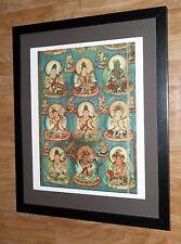 Buddhist Deities - 20''x16'' frame, rare religious art, budhha wall art