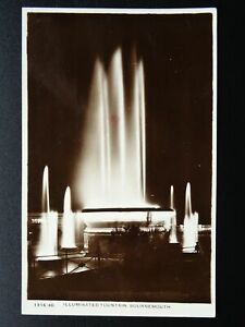 Dorset BOURNEMOUTH Illuminated Fountain c1931 RP Postcard C. Richter
