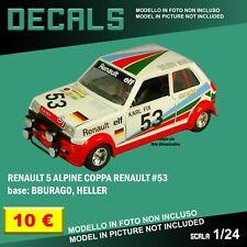 DECALS repro Renault 5 Alpine Rally Coppa Fujimi Ixo Bburago Burago 1/24 1 24