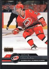 DAVE KARPA 2001/02 PACIFIC #76 PREMIERE DATE HURRICANES SP #21/45
