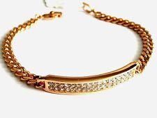 Christian Dior Signed Bracelet Gold Plated set with Crystals 10 gr