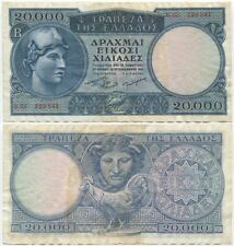 Greece 20000 (20,000) Drachmai 1949, VF+/XF, P-183, scarce