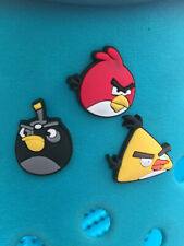 3 Angry Birds Shoe Charms. Free UK P&P