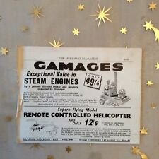 g1k ephemera vintage toy advert gamages steam engines remote control copter
