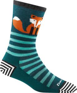6037 DARK TEAL DARN TOUGH Crew Light Womens Socks S M L MERINO Wool Animal Haus