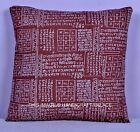 "16"" Ethnic Hindu Mantra Cotton Throw Cushion Pillow Cover Indian Throw Decor Art"