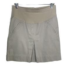 Mimi Maternity Womens A Line Khaki Skirt Bottoms Flare Pleat Tan Size Medium