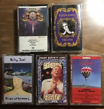 Lot Of 5 Cassette Tapes Toto, Elton John, Billy Joel, Ect