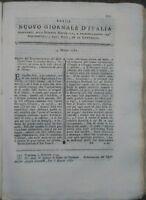 1781 NUOVO GIORNALE D'ITALIA: AGRICOLTURA VERONESE MERCURIO PER MALATTIE VENEREE