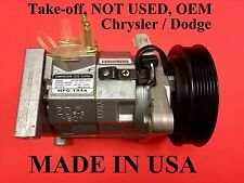 TAKE-OFF USA OEM CHRYSLER A/C Compressor w/ Clutch and Oil 77374 10S20H ND-OIL 8