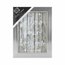 """Silver Coloured Wooden Photo Frame - 5""""x7"""" Picture"""