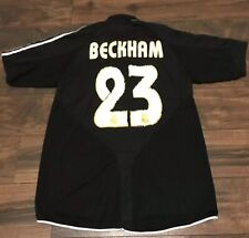2f13972bf VINTAGE REAL MADRID SIEMANS MOBILE #23 DAVID BECKHAM SOCCER JERSEY SZ M