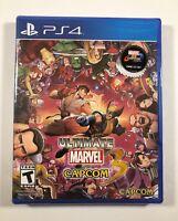Ultimate Marvel vs. Capcom 3 (Sony PlayStation 4, 2017) PS4 - Shipped in a box