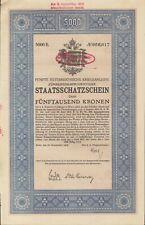 5. Österreichische Kriegsanleihe zu 5000 Kronen aus 1916
