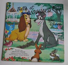 LA BELLE et le CLOCHARD (Lady & The Tramp) French LP Record Disneyland 1970s