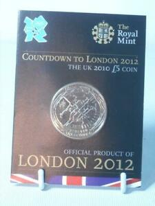 Royal Mint 2010 COUNTDOWN TO LONDON 2012 BU £5 POUND COIN Sealed on Card