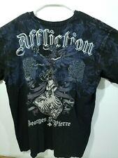 Affliction Mens 3XL Black Thermal Long Sleeve Shirt Signature Series Rush