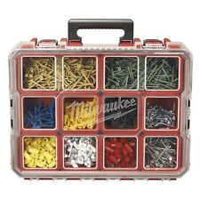 Milwaukee 10-Compartment Small Parts Organizer Deep Removable Tool Storage Bins