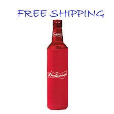1 Authentic Budweiser 16oz Beer Slim Bottle Koozie Coolie Hugie Bud Light Water