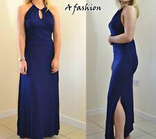 NEW NEXT UK 14 LADIES NAVY BODYSHAPER MAXI DRESS