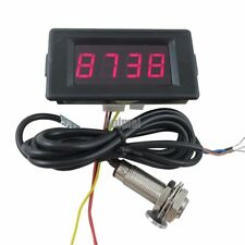 4 Digital DC 12V Red LED Counter Meter Up Down+NPNHall Proximity Switch Sensor