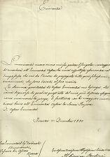 Lettera Autografo Principe Neri Corsini a Cardinale Benvenuti Vescovo Osimo 1830