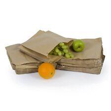 """100x Biodegradable  BROWN KRAFT PAPER  Food Bags -7"""" x 9"""""""