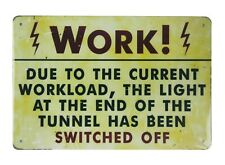 US SELLER, Arbeitsleuchte abgeschaltet Tin Blechschild Außen Metall Wandbild