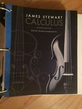 Calculus : Early Transcendentals by James Stewart (2015, Ringbound) - excellent