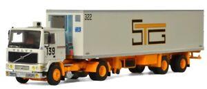 VOLVO F10 4x2 avec semi frigo 2 Essieux STG,WSI01-2595, échelle1/50,WSI