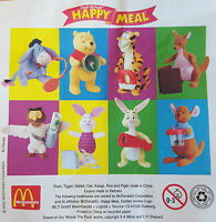 McDonalds Happy Meal Toy 2002 Winnie The Pooh Plush Soft Toys - Various