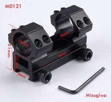 Hunting High Profile 25.4mm Rings 21mm Weaver Rail Scope Mount For Rifle Scope