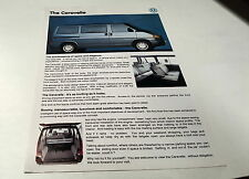1993 VW Volkswagen CARAVELLE  Australian  Sales  Leaflet
