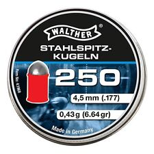 WALTHER STAHLSPITZ-KUGELN 4.5 mm cal. .177 250 pcs. Air rifle Airgun pellets