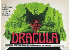The Satanic Rites of Dracula - Christopher Lee -  A4 Laminated Mini Movie Poster