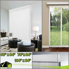 "VERTICAL BLINDS Crown White 3.5"" Window Treatment Shades 66""/78""/104""W x 84""L"