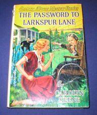 NANCY DREW~#10-THE PASSWORD TO LARKSPUR LANE~1957~HARDCOVER~JACKET~CAROLYN KEENE