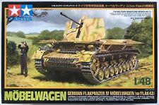 TAMIYA 32573 mobelwagen German Flakpanzer IV (con Flak 43) 1/48 Kit Modello Nuovo Con Scatola