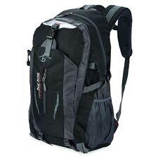 Mujer Hombre Mochila Mesh Bolso Bolsa de Hombro Viaje Escolar Zip Backpack Negro