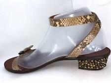 $990 LANVIN PARIS snakeskin / studded sandals shoes 41 11